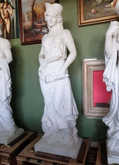 Antique  Four Seasons, White Marble Statues Suite 2.5 Meter High Set of Four