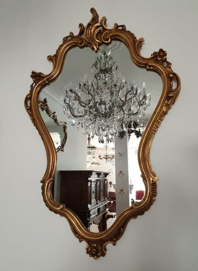 BEAUTIFUL MIRROR IN A GILDED FRAME - A NEOROCOCO