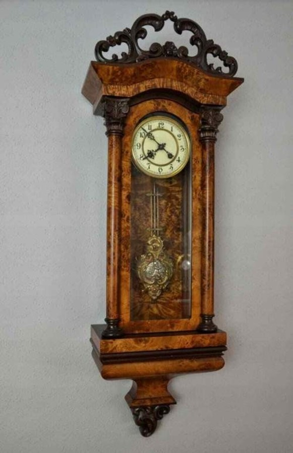 Antique Rare Kienzle Wall Clock BIEDERMEIER 1910c