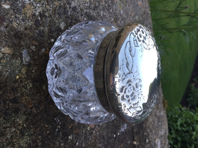 Antique Silver Top Jar London 1893/4