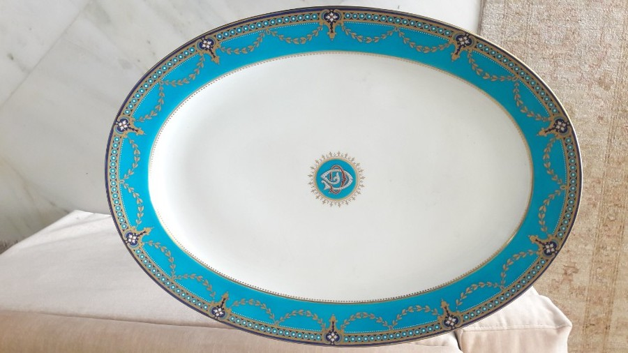 Antique Minton platter