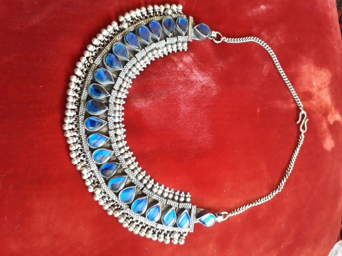 Blue Glass Rajasthani Necklace