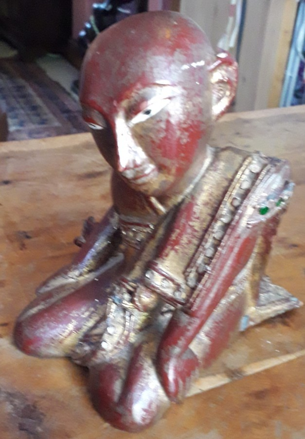 Gilt and Laquered Wooden Monk