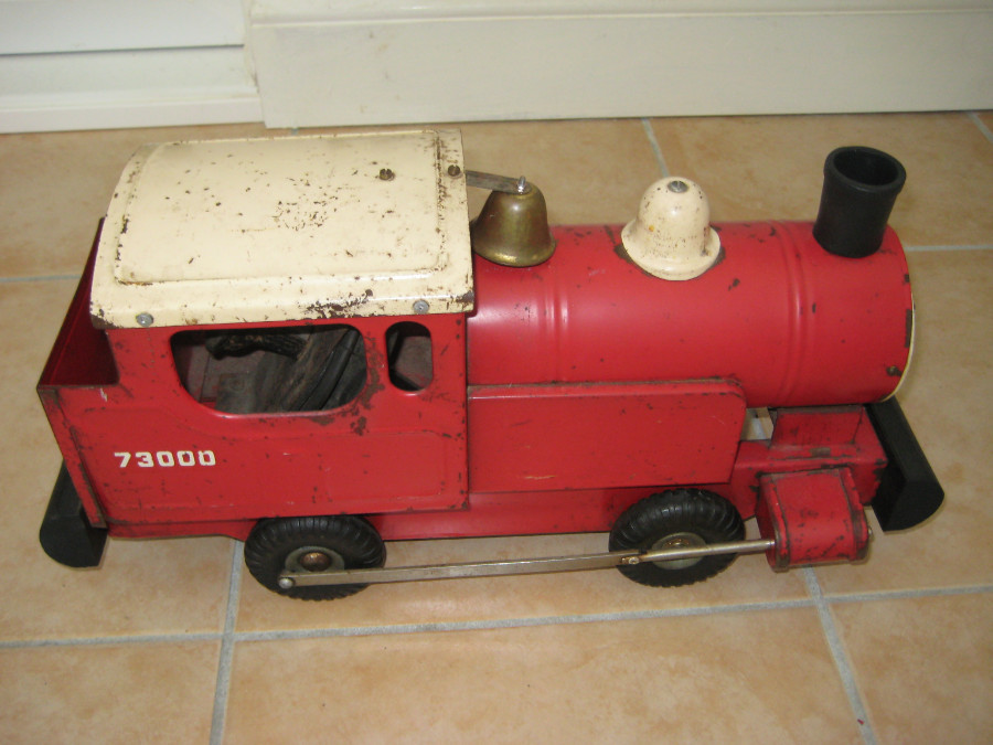VINTAGE TRI ANG PUFF PUFF 73000 PRESSED STEEL TRAIN WORKING ORDER