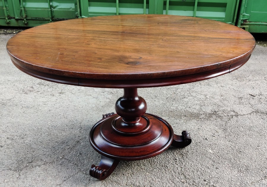 Victorian Edwardian Round Mahogany Breakfast Dining Table