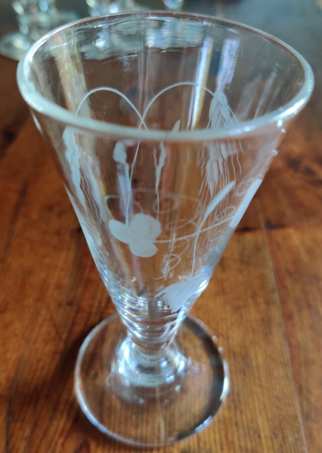 Antique 6 Ale Glasses