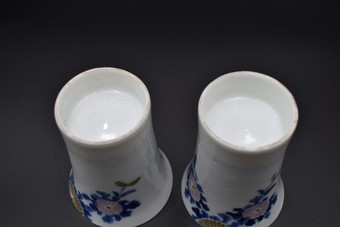 Antique Japanes Hirado/Mikawachi saki wine cups