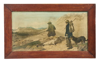 Pair of c19th Rural Hunting Prints