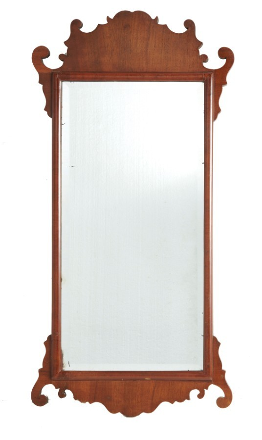 Georgian Mahogany Fretted Wall Mirror