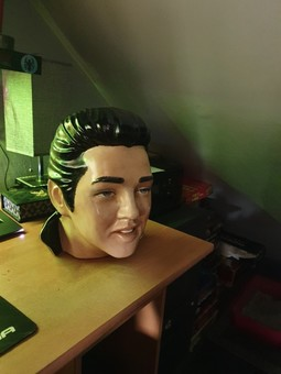 Ceramic Elvis head