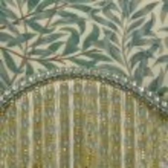 Antique William Morris Vintage Style Lampshade in Willough Bough in Forest and Thyme