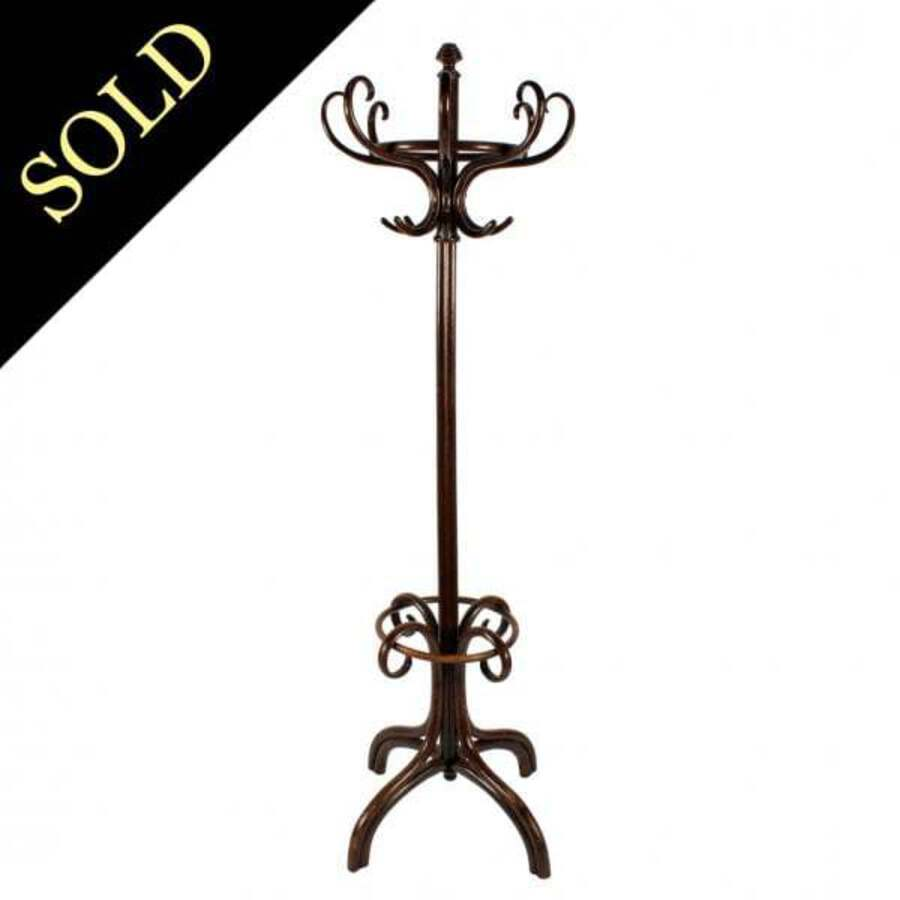 Antique Continental Bentwood Hat Stand
