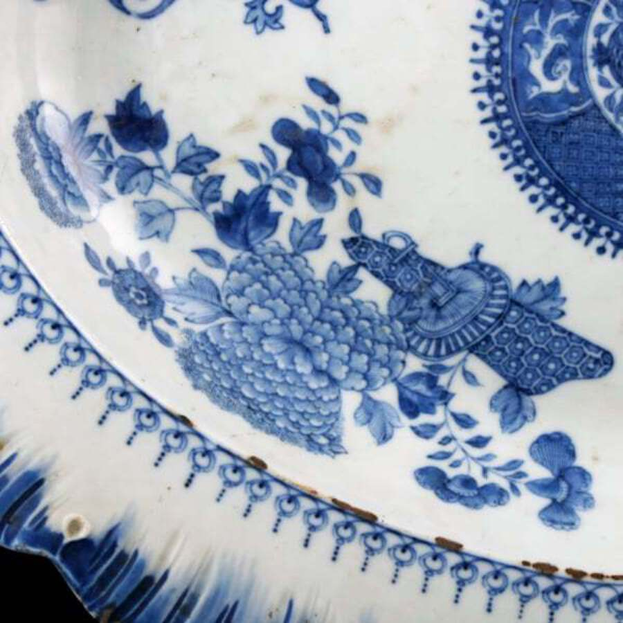 Antique 18th Century Chinese Oval Dish