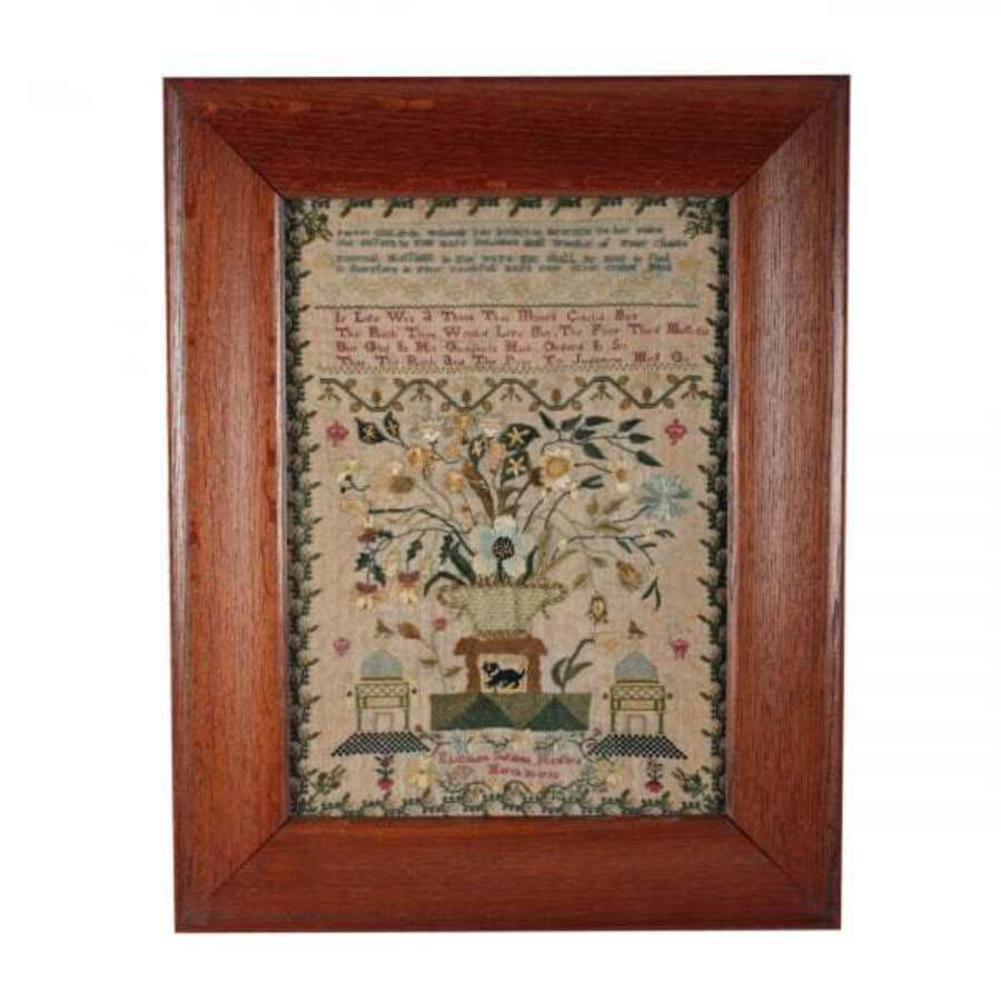 Antique 18th Century Georgian Sampler