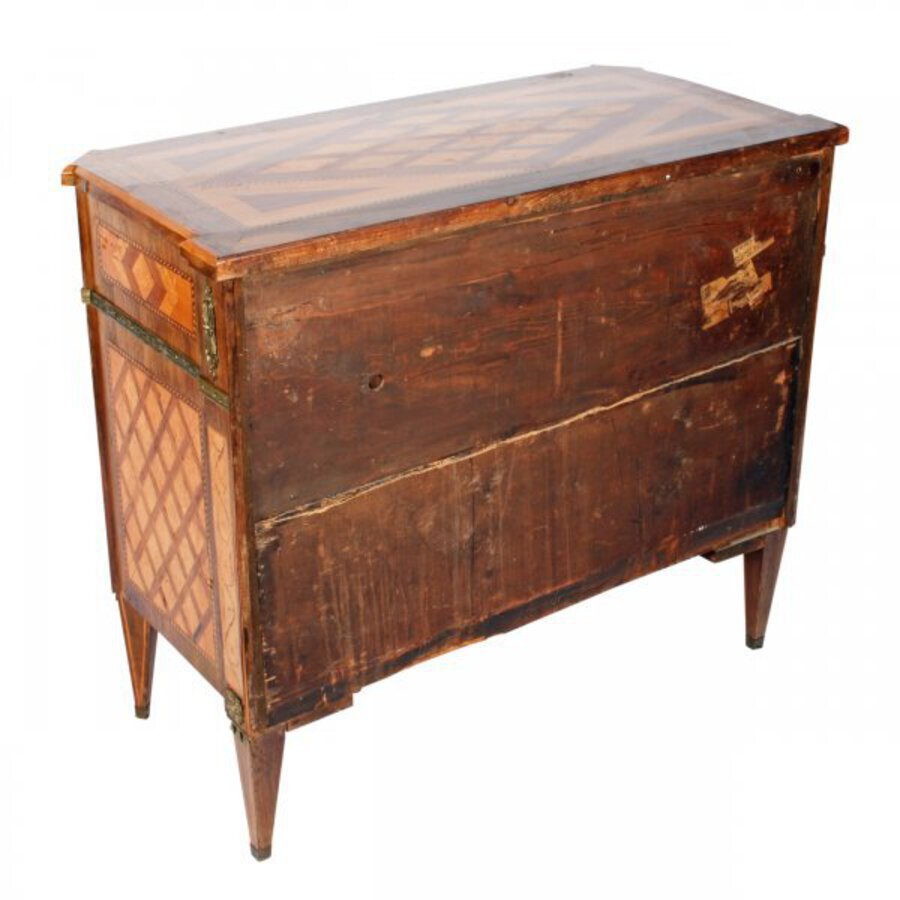 Antique 19th Century Dutch Parquetry Commode