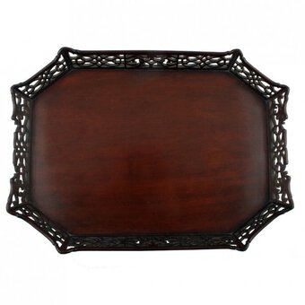 Antique 18th Century Chippendale Mahogany Tray