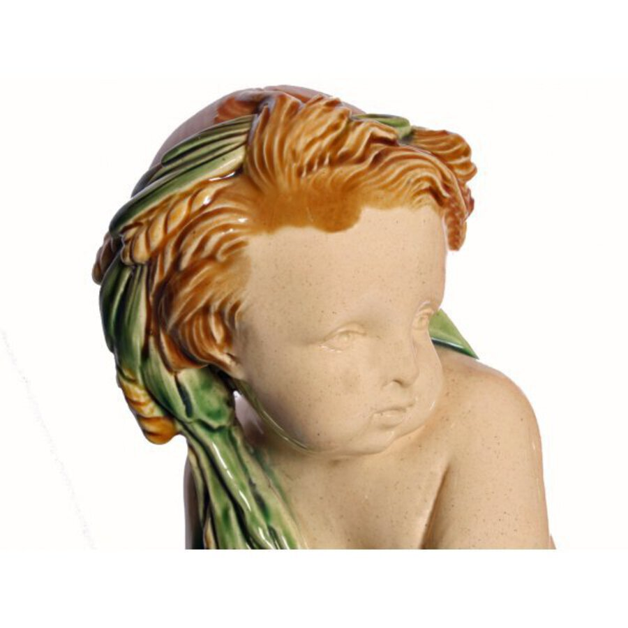 Antique 19th Century Majolica Cherub Group