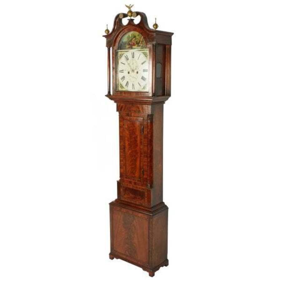 Antique Georgian Painted Dial Grandfather Clock