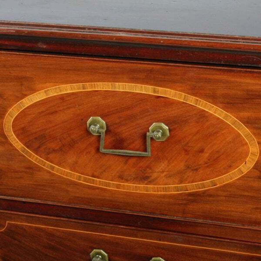 Antique Georgian Mahogany Secretaire Chest
