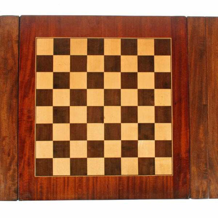 Antique Georgian Drop Leaf Games Table