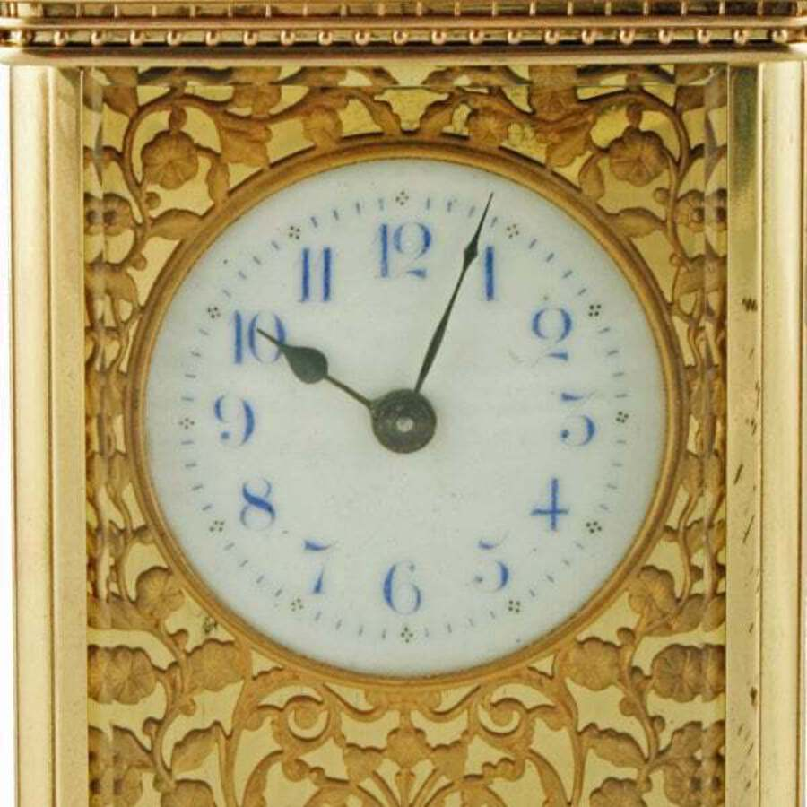 Antique Victorian Brass Carriage Clock