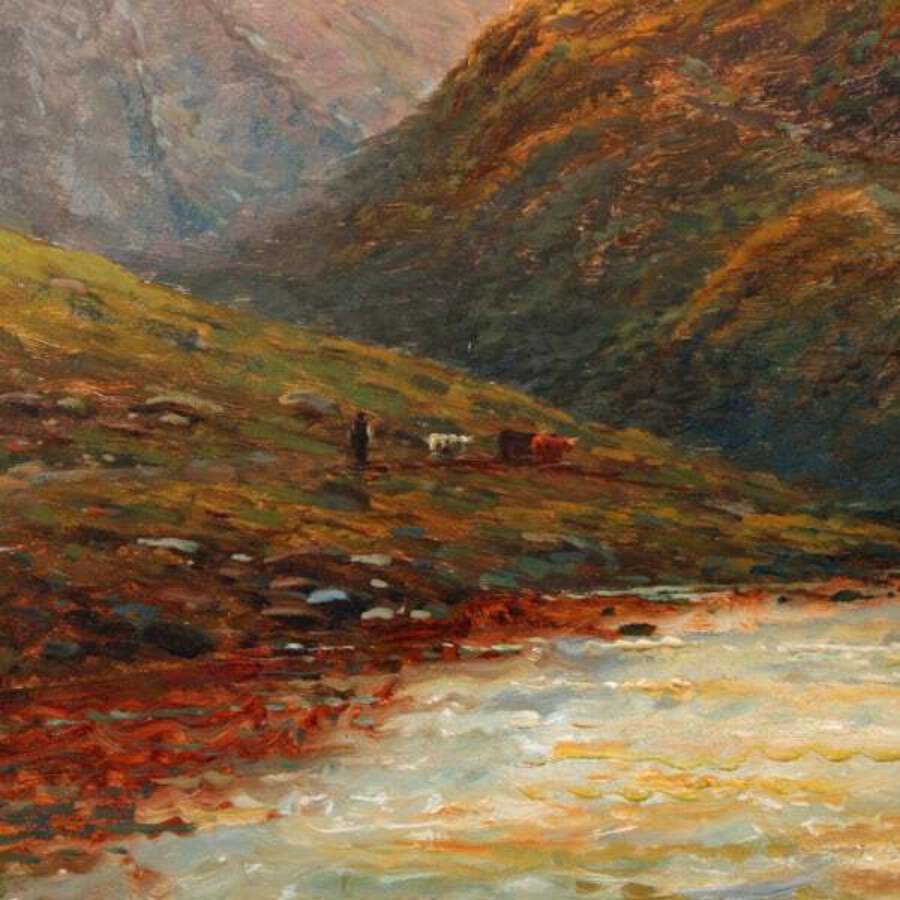 Antique 'In The Trossachs' by Alfred De Breanski