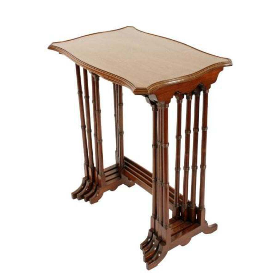 Antique Nest of Four Mahogany Tables
