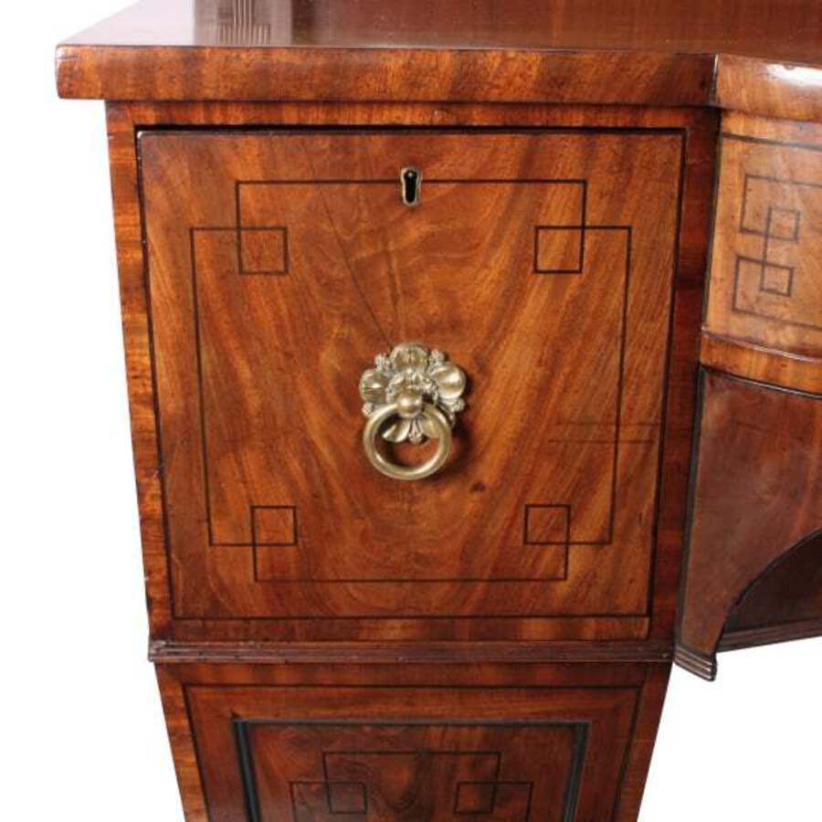 Antique Regency Mahogany Pedestal Sideboard