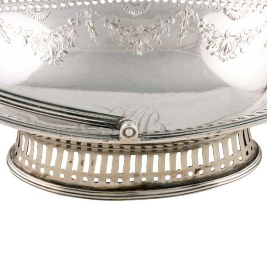 Antique 18th Century Georgian Silver Basket SOLD