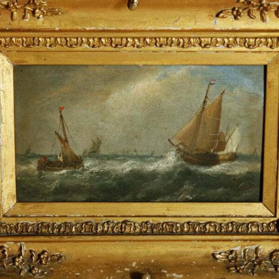 Antique Oil Painting on Board Signed John Wilson