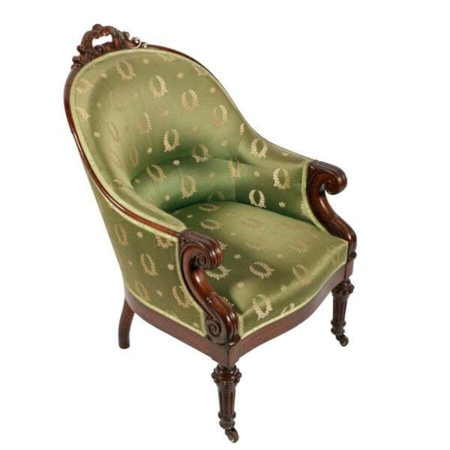 Antique Pair of George IV Library Arm Chairs
