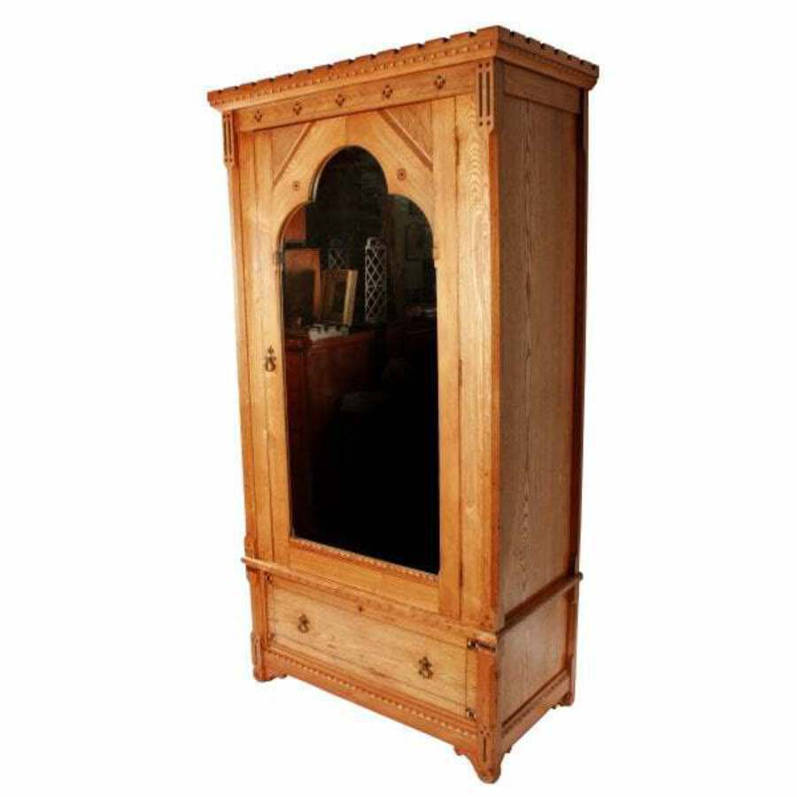 Antique Talbert Style Arts & Crafts Wardrobe