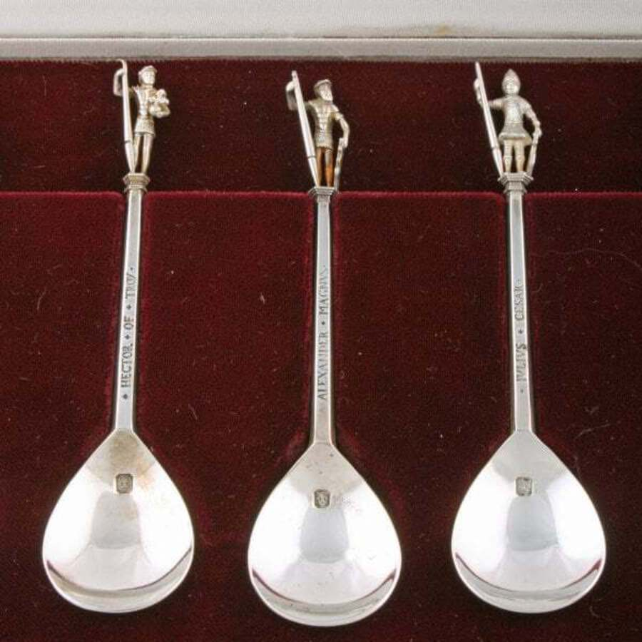 Antique The Tichborne Sterling Silver Spoons