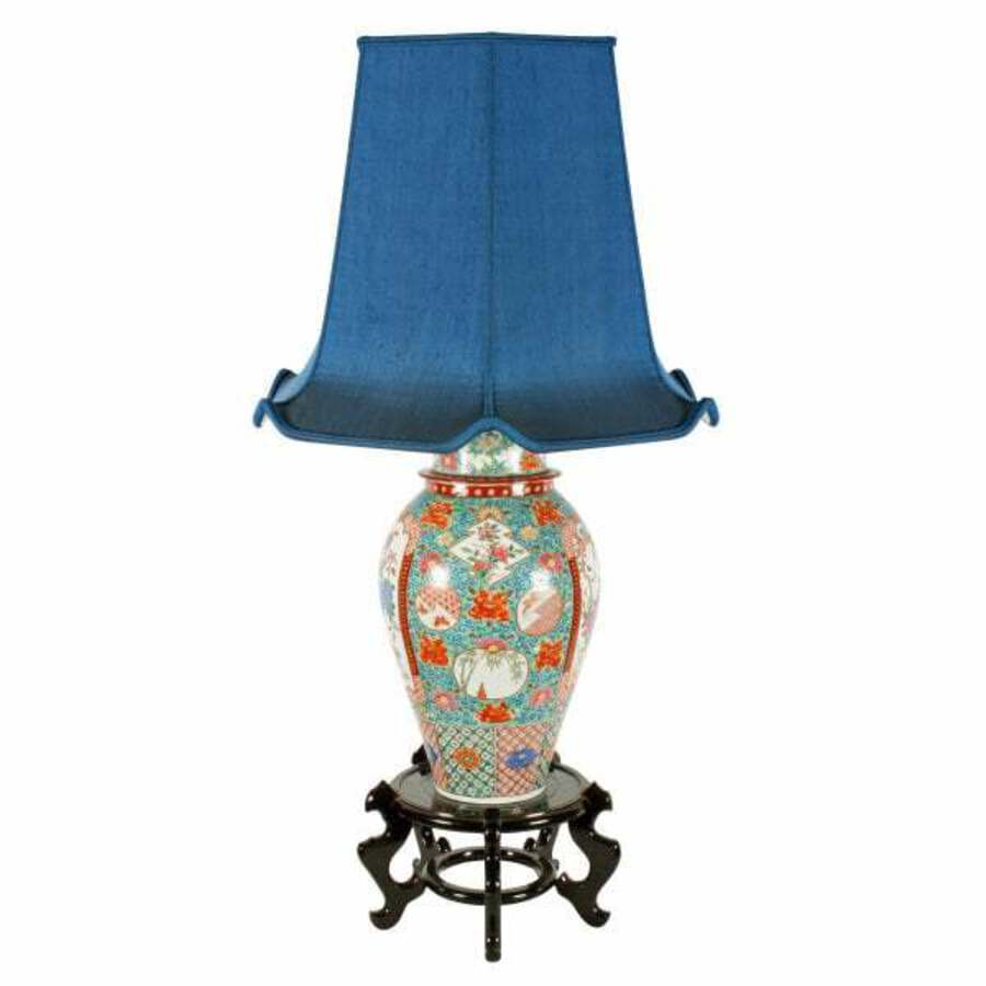 Early 20th Century Imari Table Lamp
