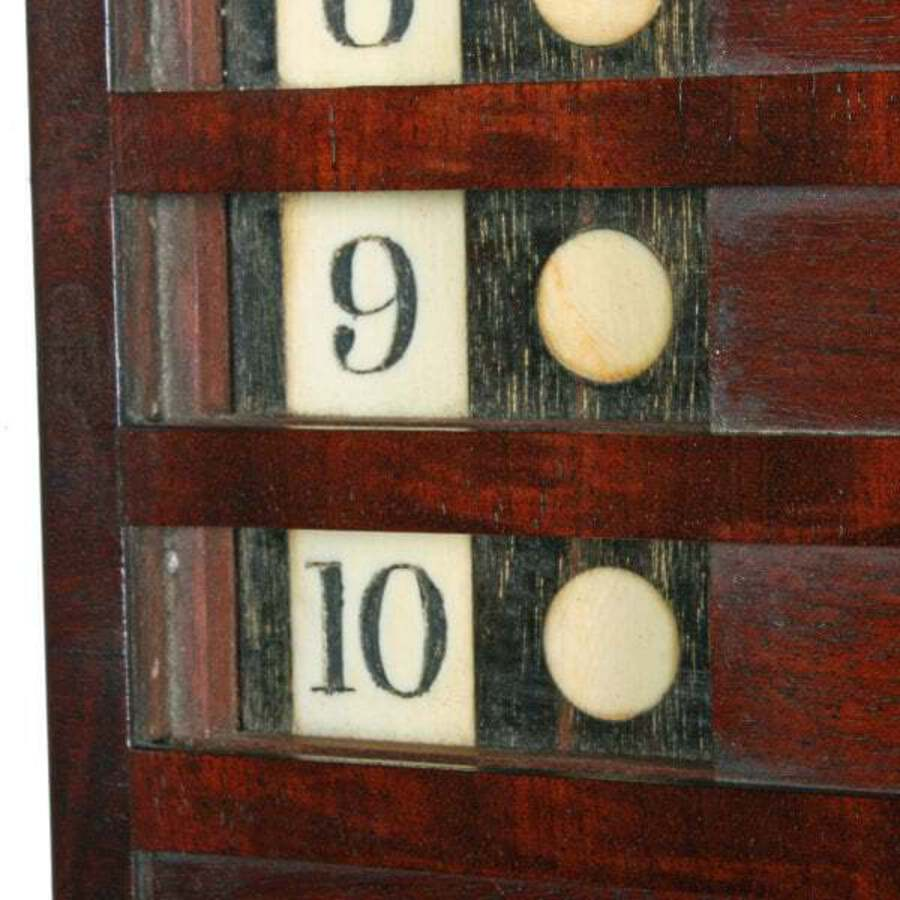 Antique Rare Georgian 'Life Pool' Scoreboard