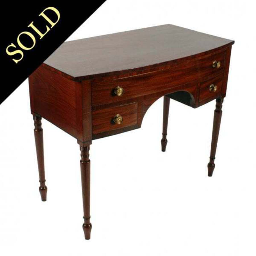 Regency Mahogany Bow Front Side Table SOLD