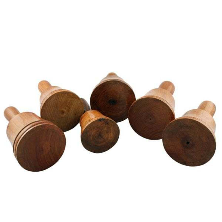 Antique Set of Six Treen Dummy Bells