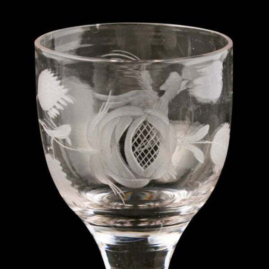 Antique 18th Century Georgian Gin Glass SOLD