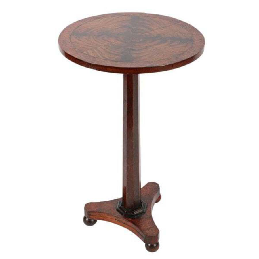 George IV Segmented Top Lamp Table