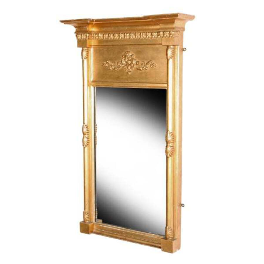 Regency Gilt Wood Pier Glass