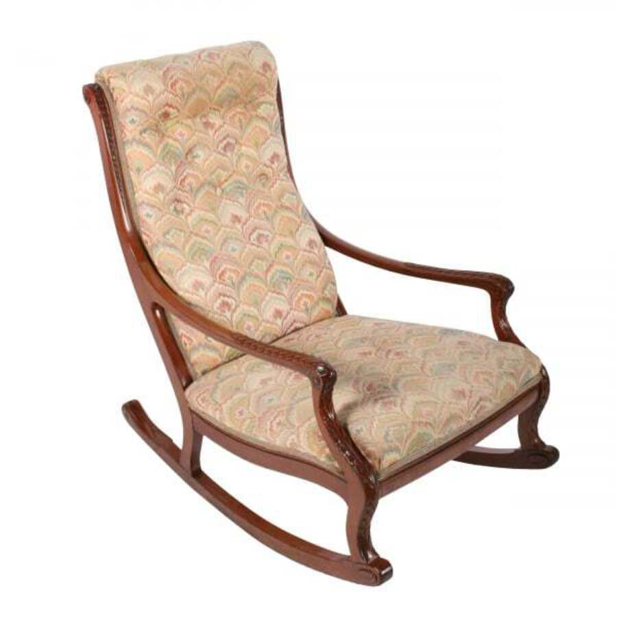 Victorian Mahogany Rocking Arm Chair