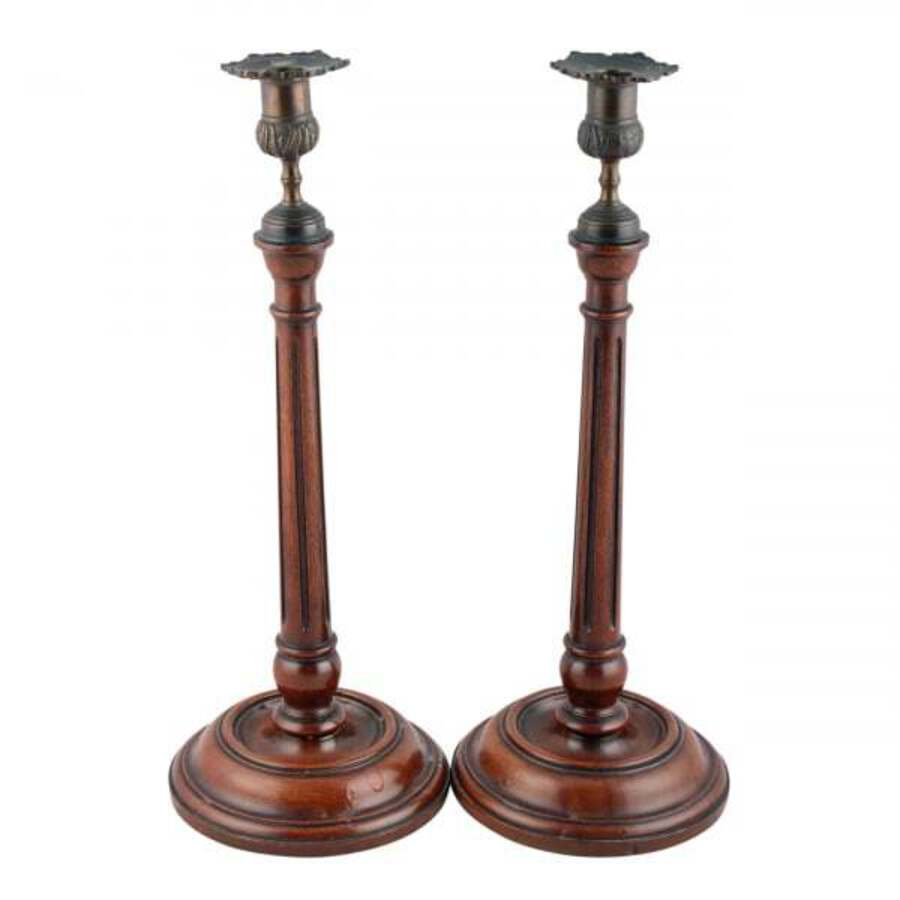 Pair of Georgian Style Candlesticks