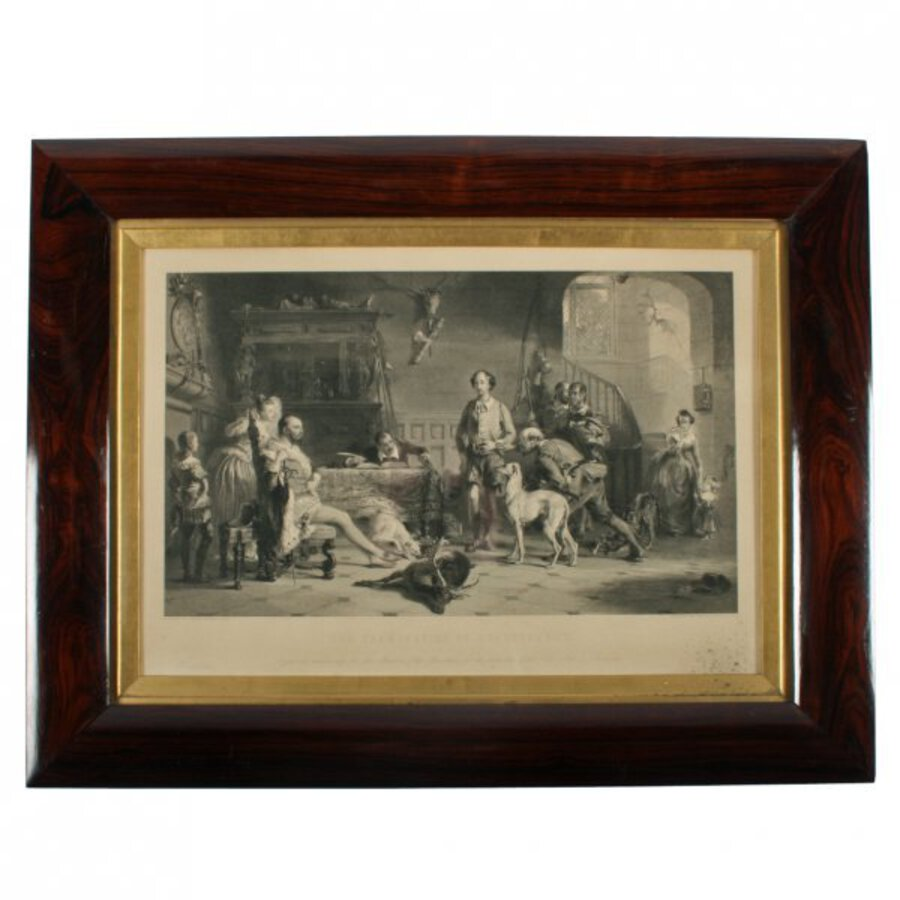 Victorian Engraving of 'The Examination of Shakespeare'