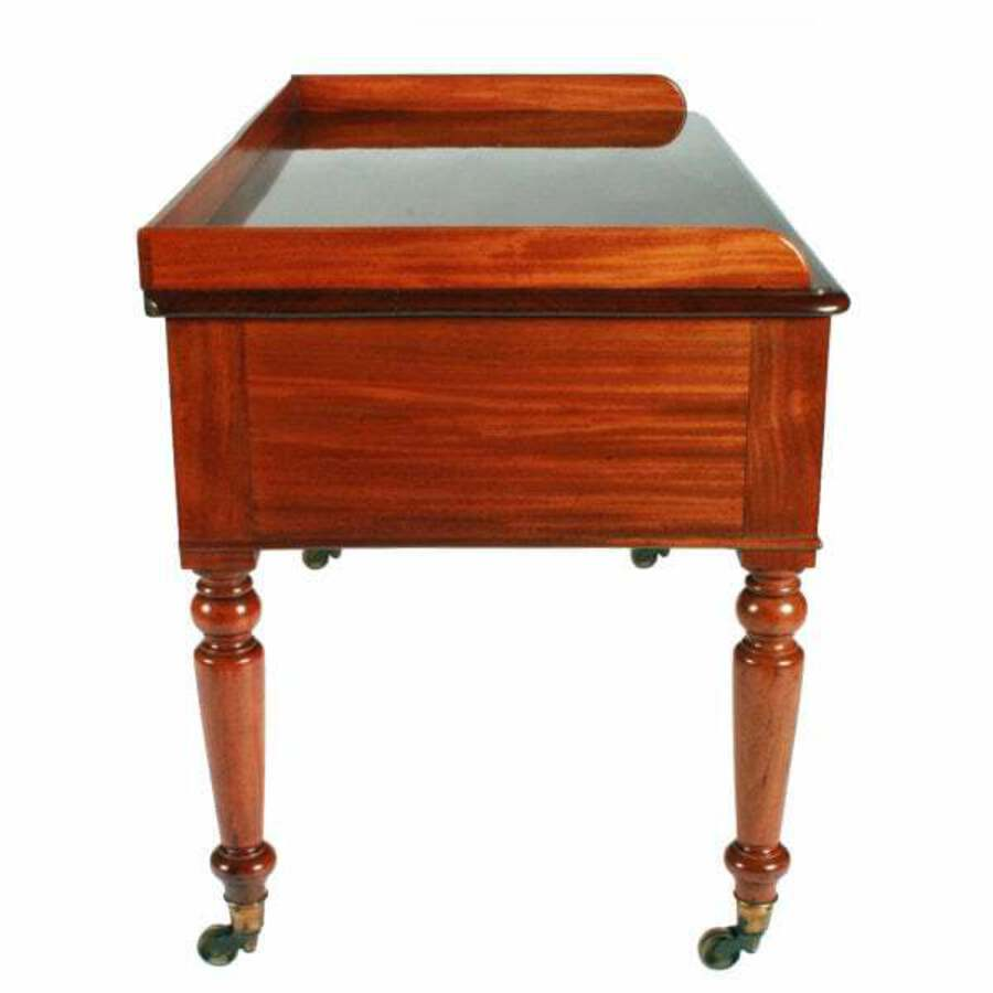 Antique Victorian Kneehole Table