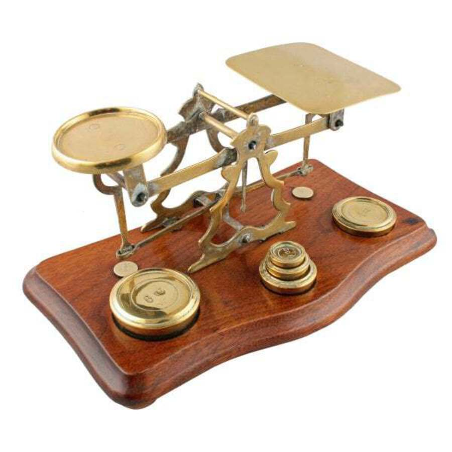 Antique  Set of Brass Postal Scales