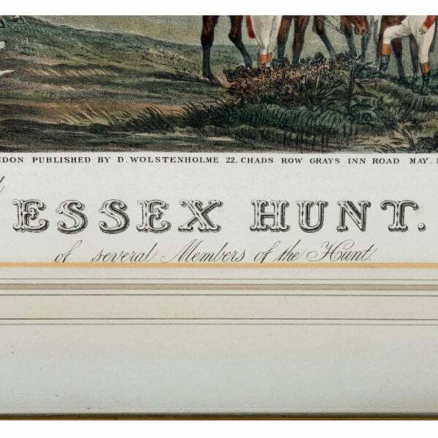 Antique Impressive set of Four Georgian Essex Hunt Prints