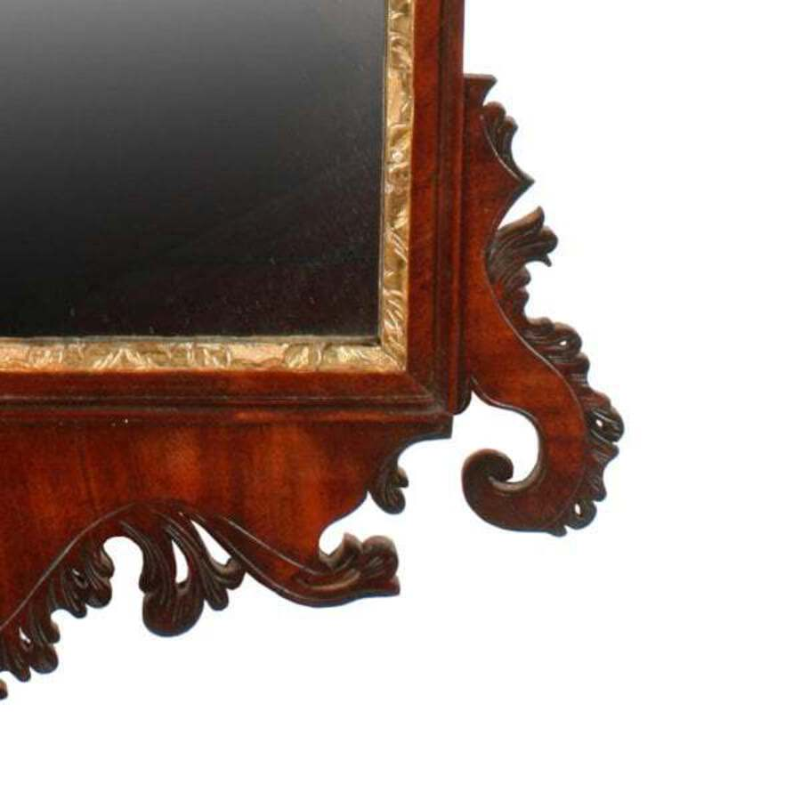 Antique 18th Century Chippendale Wall Mirror