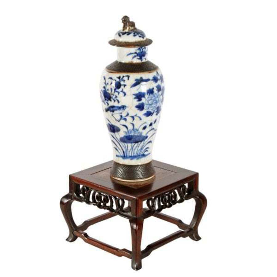 Antique Small Chinese Vase Stand