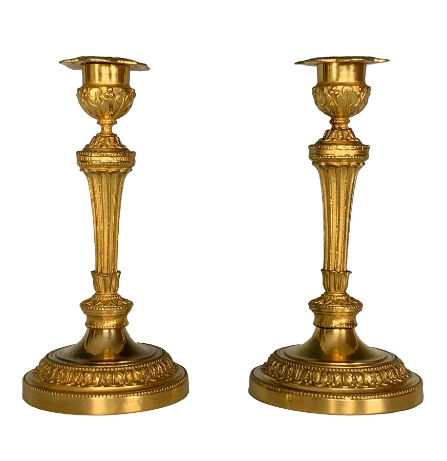 Pair of Ormolu Candlesticks Louis XVI Style