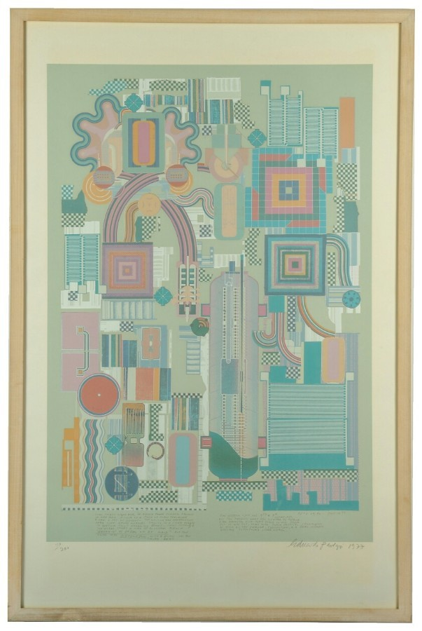 SIR EDUARDO PAOLOZZI, R.A. - CALCIUM LIGHT NIGHT - set of 9 screen prints signed + sequentially n...